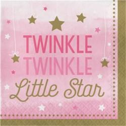 Parti Dünyası - One Little Star Pembe 16 lı Peçete