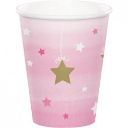 Parti Dünyası - One Little Star Pembe 8 li Bardak