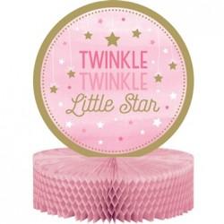 - One Little Star Pembe Masa Orta Süsü