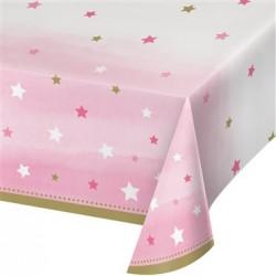 - One Little Star Pembe Masa Örtüsü