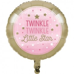 Parti Dünyası - One Little Star PembeFolyo Balon