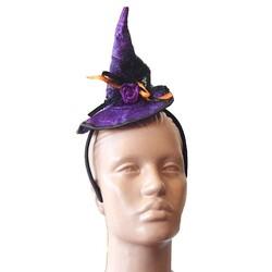 Parti Dünyası - Örümcek Desenli Cadı Şapkalı Taç Mor Renk