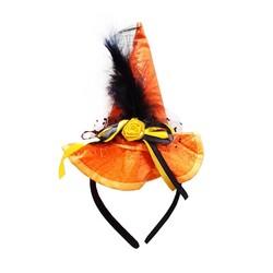 Parti Dünyası - Örümcek Desenli Cadı Şapkalı Taç Turuncu Renk