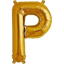 Parti Dünyası - P Harfi Altın Renk Folyo Balon 100 cm