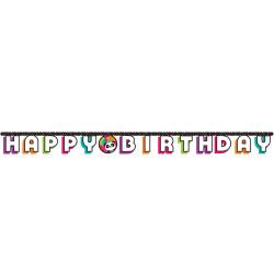 Parti Dünyası - Panda Happy Birthday Harf Afiş