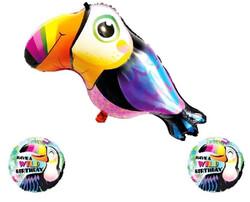 Parti Dünyası - Tropik Kuşlar Folyo Balon Seti 3 lü Paket