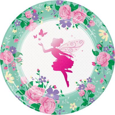 Parıltılı Çiçek Perisi Tabak 8 Adet