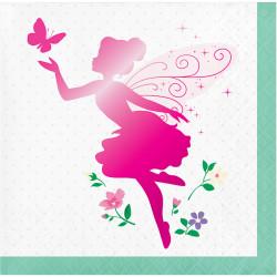 Parti - Parıltılı Çiçek Perisi 16 Lı Küçük Peçete