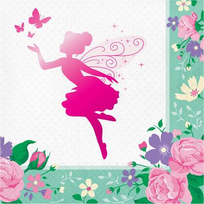 Parıltılı Çiçek Perisi Peçete 16 Adet