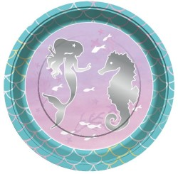 Parti Dünyası - Parlayan Deniz Kızı 8 li Tabak
