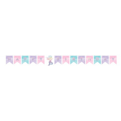 Parti - Parlayan Deniz Kızı Bayraklı Happy Birthday Afiş 15,20 x 164 cm
