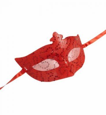 Payetli Kırmızı Maske