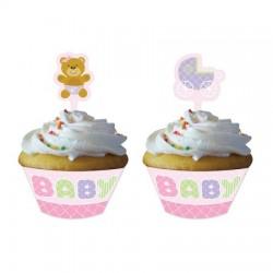 Parti Dünyası - Pembe Bebek Ayıcık Cup Cake Kılıfı ve Süsü