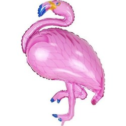 - Pembe Flamingo Folyo Balon