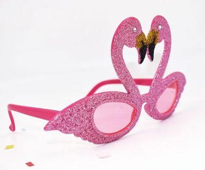 Pembe Flamingo Parti Gözlüğü