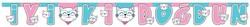 Parti Dünyası - Pembe Kedicikler İyi Ki Doğdun Harf Afiş 2 metre