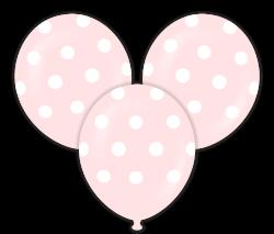 Parti Dünyası - Pembe Puanlı Çepeçevre Baskılı 100 lü Latex Balon