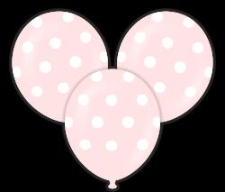 Parti Dünyası - Pembe Puanlı Çepeçevre Baskılı Balon 10 Adet