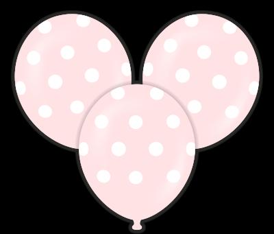Parti - Pembe Puanlı Çepeçevre Baskılı Balon 10 Adet