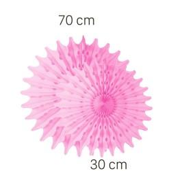 Parti Dünyası - Pembe Renk Yelpaze Süs Seti 2 Adet 70-30 cm