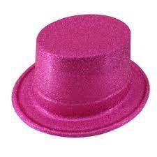Parti Dünyası - Pembe Simli Parlak Fötr Şapka