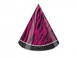Parti Dünyası - Pembe Zebra Butiği 8 li şapka