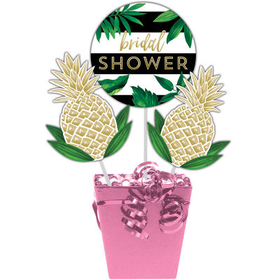 - Pineapple Gold Birdal Shower Masa Orta Süsü