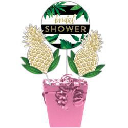 Parti Dünyası - Pineapple Gold Birdal Shower Masa Orta Süsü