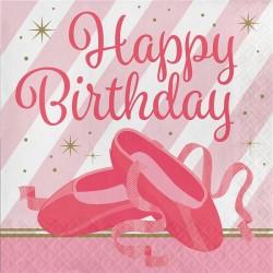 Parti Dünyası - Pırıltılı Balerin Happy Birthday 16 lı Peçete