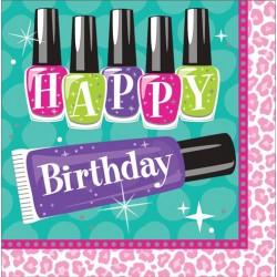 Parti Dünyası - Süslü Kızlar Partisi Happy Birthday 16 lı Peçete
