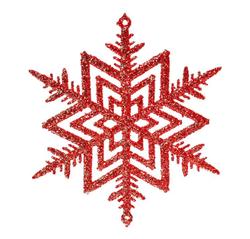 Parti - Pırıltılı ve Simli Kırmızı Ağaç süsleri 3 Ad 8 cm