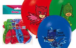Parti Dünyası - PJ Masks Baskılı Latex Balon 12 Adet
