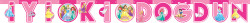 Parti Dünyası - Disney Prensesleri İyi Ki Doğdun Harf Afiş