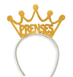 Parti - Prenses Simli Altın Rengi Taç