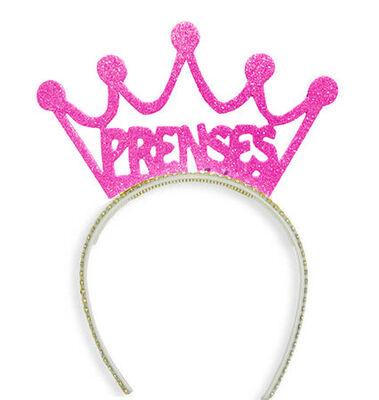 Prenses Simli Pembe Rengi Taç