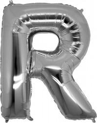Parti Dünyası - R Harfi Gümüş Folyo Balon