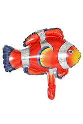Parti Dünyası - Kırmızı Balık Folyo Balon 71 x 90 cm