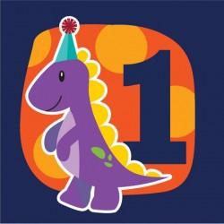 Parti Dünyası - Renkli Dinozorlar 1 Yaş 16 lı Peçete