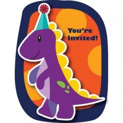 Parti Dünyası - Renkli Dinozorlar Davetiye