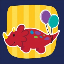 Converting - Renkli Dinozorlar Küçük 16 lı Peçete