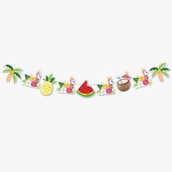 Parti Dünyası - Renkli Flamingo Banner