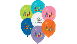 Parti Dünyası - Renkli İyi Ki Doğdun Latex Balon