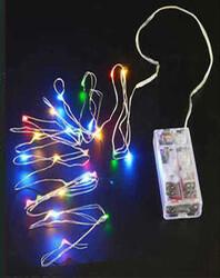 Parti Dünyası - Renkli Led Işık Damla Pilli 3 metre