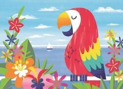 Parti Dünyası - Renkli Papağan 8 li Amerikan Servis