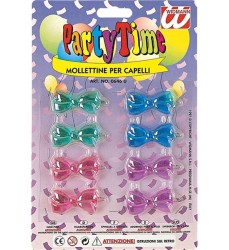 Parti Dünyası - Renkli Tokalar 8 li Paketlerde