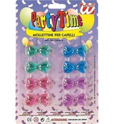 Parti - Renkli Tokalar 8 li Paketlerde