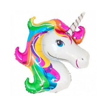 - Renkli Unicorn Supershape 82 cm Folyo Balon