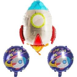 Parti Dünyası - Roket 3 Lü Folyo Balon Set