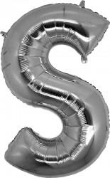 Parti Dünyası - S Harfi Gümüş Folyo Balon