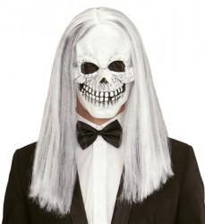 Parti Dünyası - Saçlı İskelet Korku Maskesi